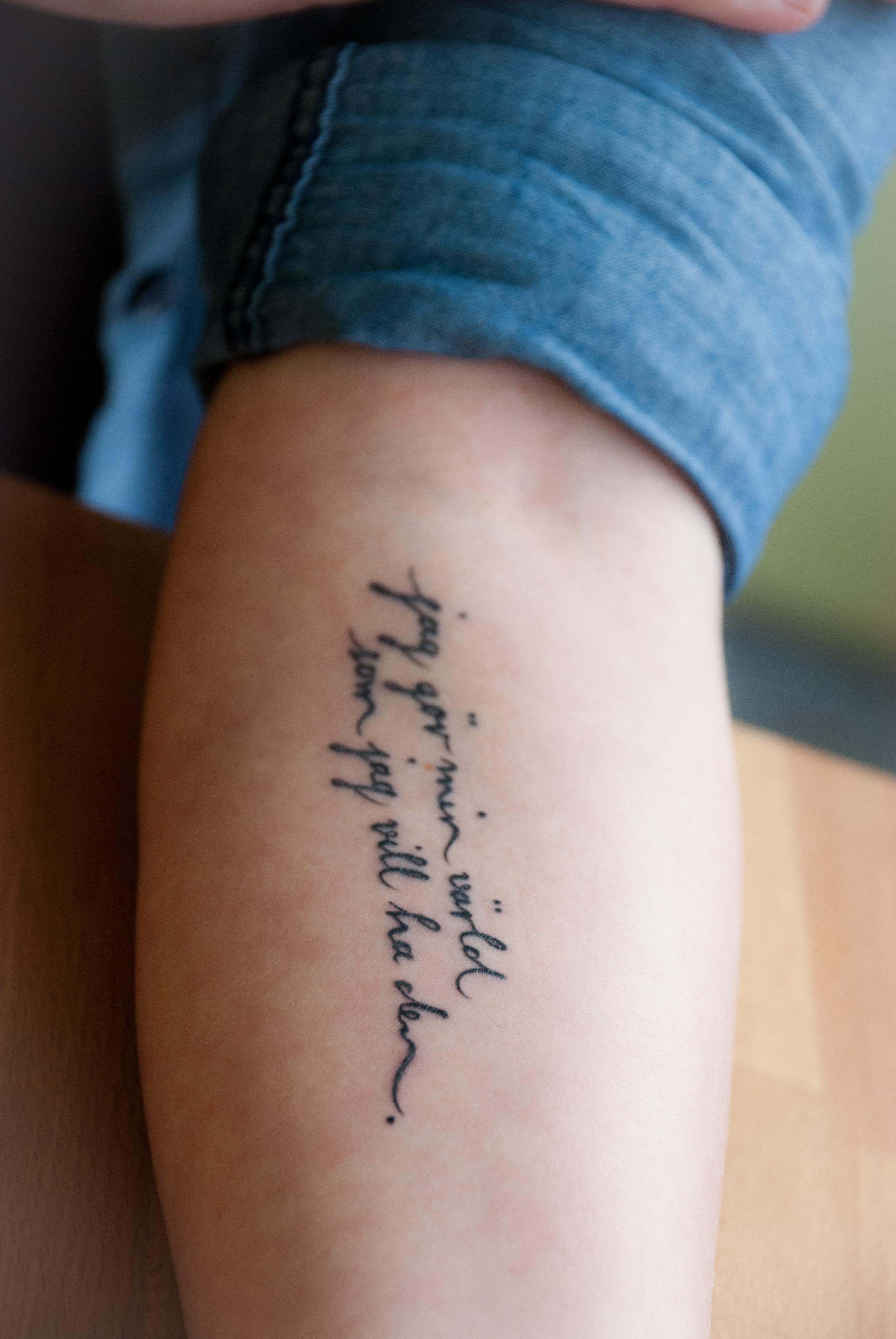 tattoo schriftzug arm tattoo schriften das kind am arm. Black Bedroom Furniture Sets. Home Design Ideas